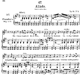 Alinde D.904, Medium Voice in G Major, F. Schubert., C.F. Peters | eBooks | Sheet Music