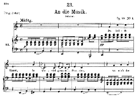an die musik d.547 in c major, medium voice. f. schubert, c.f. peters