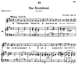 das rosenband d.280  in g major, medium voice. f. schubert, c.f. peters