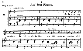 auf dem flusse d.911-7, medium voice in d minor, f. schubert (winterreise), c.f. peters