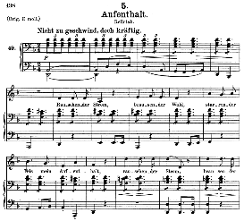 Aufenthalt D.957-5, Medium Voice in D Minor, F. Schubert (Schwanengesang), C.F. Peters | eBooks | Sheet Music