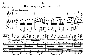 Danksagung an den Bach, D.795-4, Medium Voice in F Major, F. Schubert (Die Schöne Mullerin), C.F. Peters | eBooks | Sheet Music