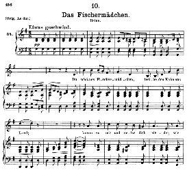 das fischermädchen d.957-10, medium voice in g major, f. schubert (schwanengesang), c.f. peters