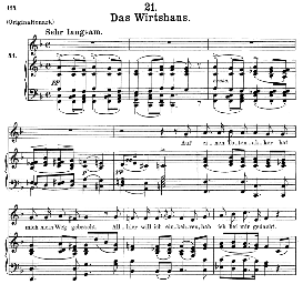 das wirtshaus d.911-21 in f major, medium voice.. f. schubert (winterreise), c.f. peters