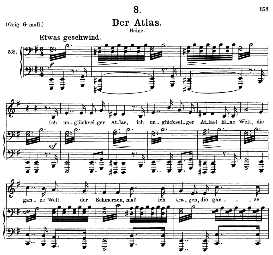 Der Atlas, D.957-8, Medium Voice in E Minor, F. Schubert (Schwanengesang) , C.F. Peters | eBooks | Sheet Music