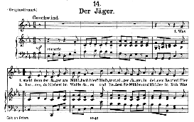 Der Jäger, D.795-14, Medium Voice in C Minor, F. Schubert (Die Schöne Mullerin), C.F. Peters | eBooks | Sheet Music