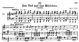 Der Tod und das Mädchen D.774 in D Minor, Medium Voice. F. Schubert., C.F. Peters | eBooks | Sheet Music