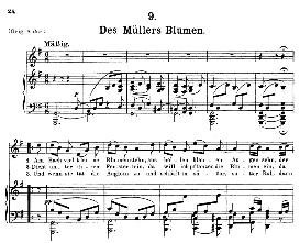 Des Müller's Blumen D.795-9, Medium Voice in G Major, F. Schubert (Die Schöne Mullerin), C.F. Peters | eBooks | Sheet Music