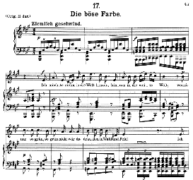 Die böse Farbe D.795-1 in A Major, Medium Voice. F. Schubert (Die Schöne Mullerin) Pet.), C.F. Peters | eBooks | Sheet Music