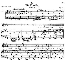 Die Forelle D.550, Medium Voice in B Major, F. Schubert, C.F. Peters | eBooks | Sheet Music