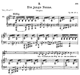 Die junge Nonne D.828, Medium Voice in E Minor, F. Schubert, C.F. Peters | eBooks | Sheet Music