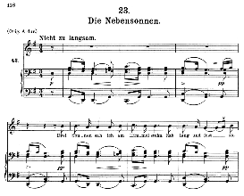 die nebensonnen d.911-23, medium voice in g major, f. schubert (winterreise), c.f. peters