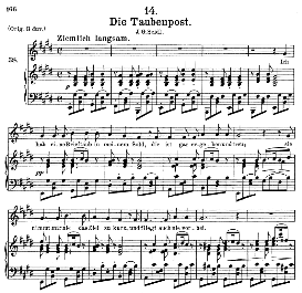 Die Taubenpost, D.957-14, Medium Voice in E Major, F. Schubert (Schwanengesang), C.F. Peters | eBooks | Sheet Music