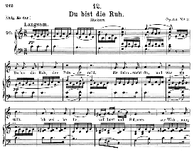 du bist die ruh d.776, medium voice in c major, f. schubert, c.f. peters