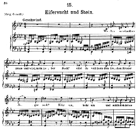 Eifersucht und Stolz D.795-15, Medium Voice in F Minor, F. Schubert (Die Schöne Mullerin), C.F. Peters | eBooks | Sheet Music