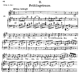 frühlingstraum d.911-11, medium voice in g major, f. schubert (winterreise), c.f. peters