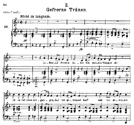 gefrorne tränen d.911-3, medium voice in d minor, f. schubert (winterreise), c.f. peters