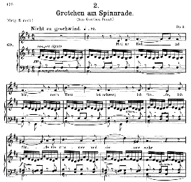 gretchen am spinnrade d.118, medium voice in b minor, f. schubert, c.f. peters