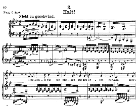 halt! d.795-3, medium voice in b flat major, f. schubert (die schöne mullerin), c.f. peters