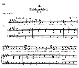 heidenröslein d.257, medium voice in e major, f. schubert, c.f. peters
