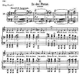 in der ferne d.957-6, medium voice in a minor, f. schubert (schwanengesang), c.f. peters
