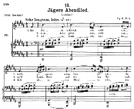 Jägers Abendlied D.368, Medium Voice in B Flat Major, F. Schubert, C.F. Peters | eBooks | Sheet Music