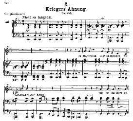 Kriegers Ahnung, D.957-2, Medium Voice in C Minor, F. Schubert (Schwanengesang), C.F. Peters | eBooks | Sheet Music