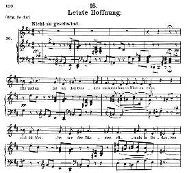 letzte hoffnung d.911-16, medium voice in d major, f. schubert (winterreise), c.f. peters