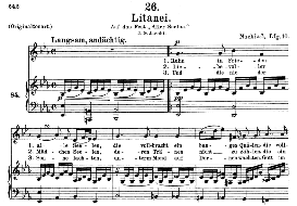 "litanei d.343 ""am tage aller seelen"" , medium voice in e flat major, f. schubert, c.f. peters"