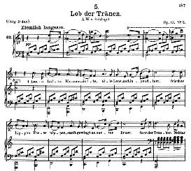 Lob der Tränen D.711, Medium Voice in C Major, Schubert, C.F. Peters | eBooks | Sheet Music