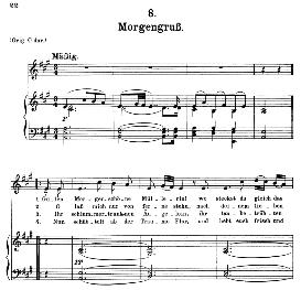 Morgengruss D.795-8, Medium Voice in A Major, F. Schubert (Die Schöne Mullerin) C.F. Peters | eBooks | Sheet Music