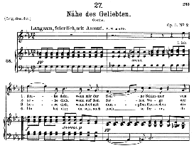 Nähe des Geliebten,D.162, Medium Voice in E Flat Major, F. Schubert, C.F. Peters | eBooks | Sheet Music