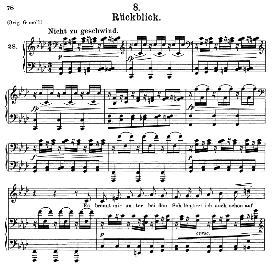 rückblick d.911-8, medium voice in f minor, f. schubert (winterreise), c.f. peters