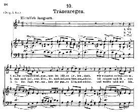 Tränenregen D.795-10, Medium Voice in G Major, F. Schubert (Die Schöne Mullerin) C.F. Peters | eBooks | Sheet Music