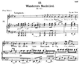 Wanderers Nachtlied D.768 ;Uber allen Gipfeln ist Ruh, Medium Voice in A Flat Major, F. Schubert, C.F. Peters | eBooks | Sheet Music
