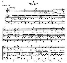 Wohin D.795-2, Medium Voice in F Major, F. Schubert (Die Schöne Mullerin), C.F. Peters | eBooks | Sheet Music