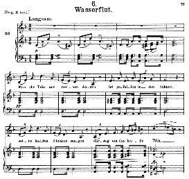 wasserflut d.911-6, medium voice in d minor,f. schubert (winterreise), c.f. peters