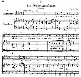 Am grabe Anselmos D.504, Medium Voice in  E Flat Minor, F. Schubert | eBooks | Sheet Music