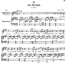 Am Strome D.539 in A Major, Medium Voice. F. Schubert | eBooks | Sheet Music