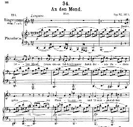 An den Mond D.193 Geuss, lieber Mond  in D Minor, Medium Voice, F. Schubert, C.F.Peters | eBooks | Sheet Music