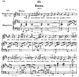 An Emma D.193, Medium Voice in D Major, F. Schubert, C.F. Peters | eBooks | Sheet Music