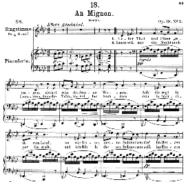 An Mignon D.161 Über Tal und Fluss, Medium Voice in F Minor, F. Schubert, C.F. Peters | eBooks | Sheet Music