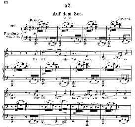 Auf dem See D.543, Medium Voice in C Major, F. Schubert, C.F. Peters | eBooks | Sheet Music