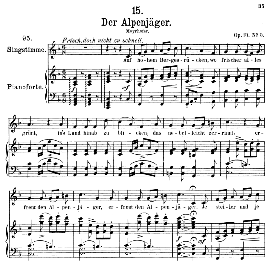 Der Alpenjäger D.524, Medium Voice in F Major, F. Schubert, C.F. Peters | eBooks | Sheet Music