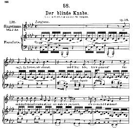 der blinde knabe d.833, medium voice in a flat major, f. schubert, c.f. peters