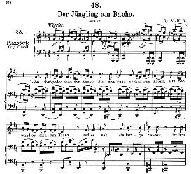 Der Jüngling am Bache D.638, Medium Voice in B Minor, F. Schubert, C.F. Peters | eBooks | Sheet Music
