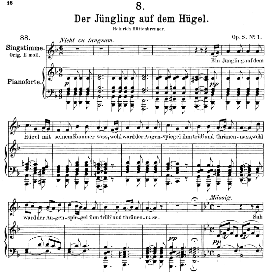 Der Jüngling auf dem Hügel D.702, Medium Voice in D Minor, F. Schubert, C.F. Peters | eBooks | Sheet Music