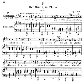 Der könig in Thule D.367, Medium Voice in B Minor, F. Schubert, C.F. Peters | eBooks | Sheet Music