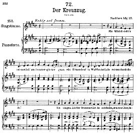 Der Kreuzzug D.932 in E Major, Medium Voice. F. Schubert, C.F. Peters | eBooks | Sheet Music