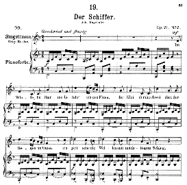 Der Schiffer D.536, Medium Voice in F Major, F. Schubert, C.F. Peters | eBooks | Sheet Music